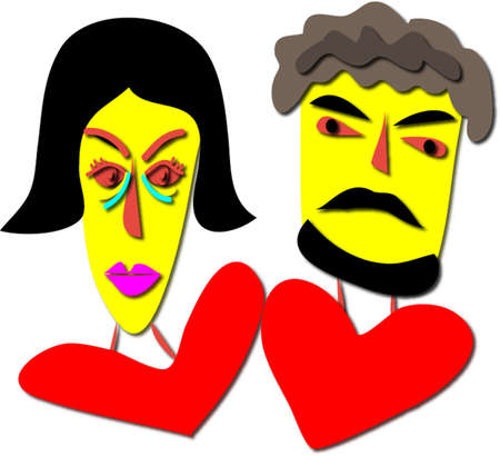 interpersonal: Illustration of couple for Valentine Illustration