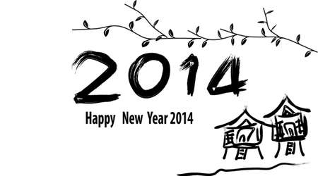 2014 Happy new year Stock Vector - 23997425