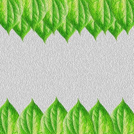 leaves frame: Hojas verdes de dise�o del marco