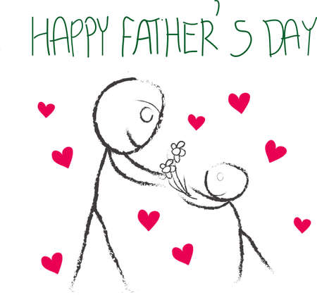 father s day cartoon Vector