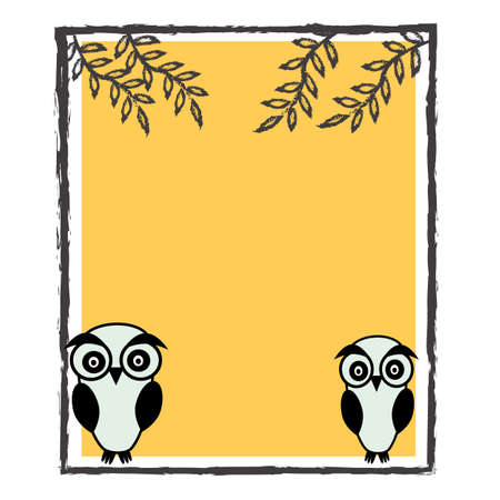 cute frame ,Template greeting card Vector