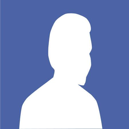 hombre de perfil: hombre icono de perfil avatar Vectores