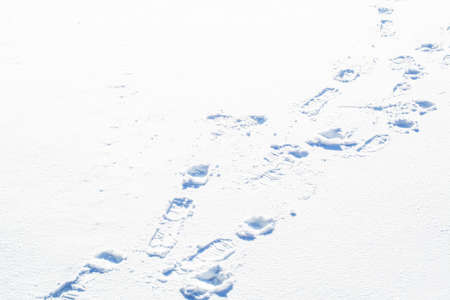 snow texture  with footprint photo