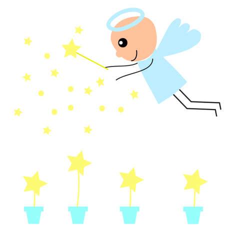 cute angel: cute angel    with yellow strar