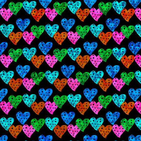colorful heart: colorful heart background