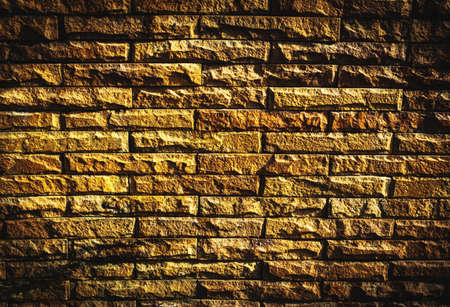 vignette: Brown wall bricks  vignette  background Stock Photo