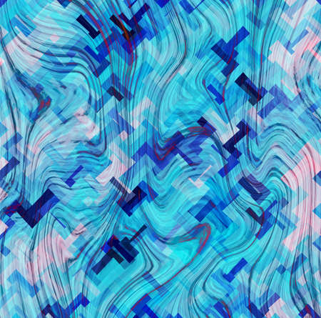 abstract art: abstract blue modern art  background Stock Photo