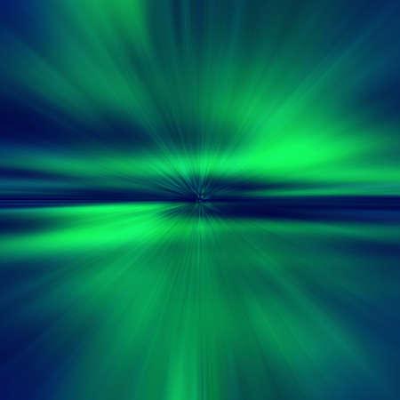 Naadloos, Noord-Ligh, Aurora Borealis, lichtgroene sunburst achtergrond
