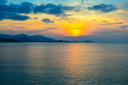 Beautiful sunset wallpaper background at the sea ,Koh Samui ,Surat Thani ,Thailand