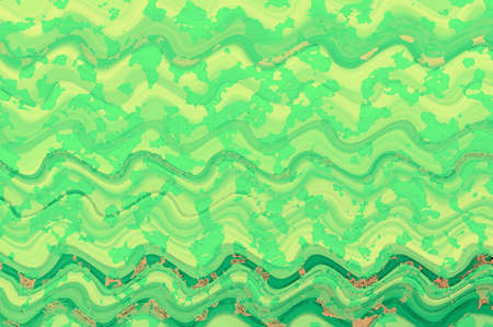 green wave watercolor paint  digital art background