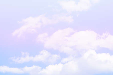 pastel  color sky and clouds  background