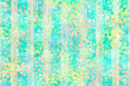 blue light with yellow, pink and green pastel  color abstract wallpaper  art  design   background Stock Photo