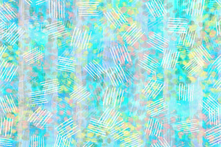 blue light with yellow, pink and green pastel  color abstract wallpaper  art background