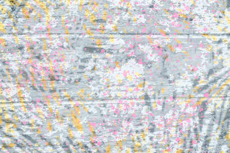 abstract digital paint  pink,black,gray  and yellow background for design