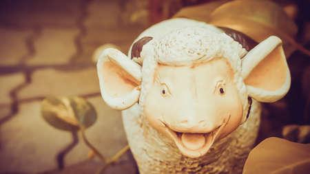 cute sheep clay doll