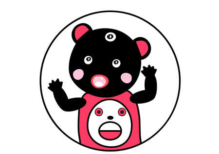 ugly,cute ,angry  bear monster   cartoon vector eps.10