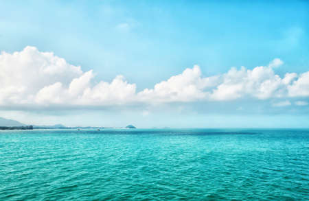 blue sea and  sky  with small island  ,landscape  nature wallpaper background Reklamní fotografie
