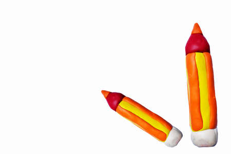 colorful pencil made from clay ,abstract knowledge,learning for childern background