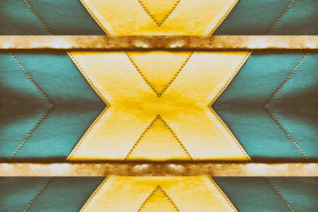 colorful green,brown  and yellow  leather abstract template ,banner design background