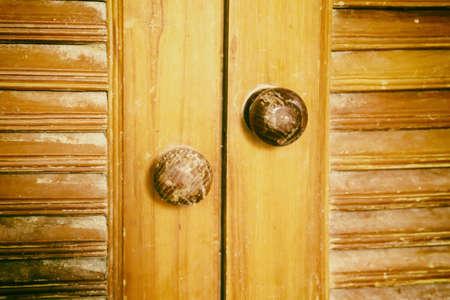 old brown wooden door  textute  background Banco de Imagens