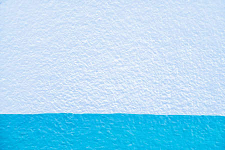 white and blue   color  of concrete wall paint texture abstract  background Stock Photo