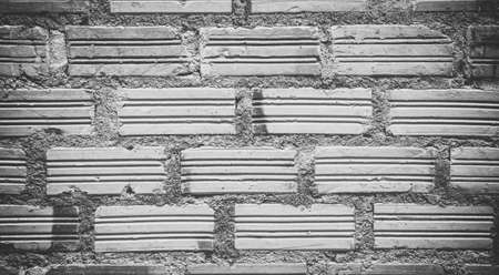 black and white  wall bricks  texture wallpaper background Stock Photo