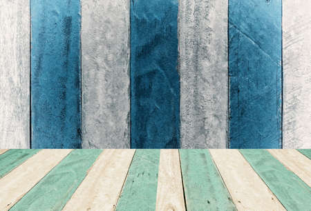 vintage  blue and white wooden  panel montage,display  design background