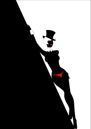 bathe: Silhouette of the beautiful woman in a hat against