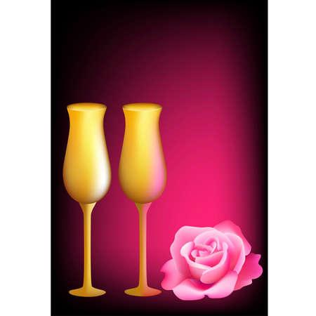 romanticist: Card at date of sacred Valentine Illustration