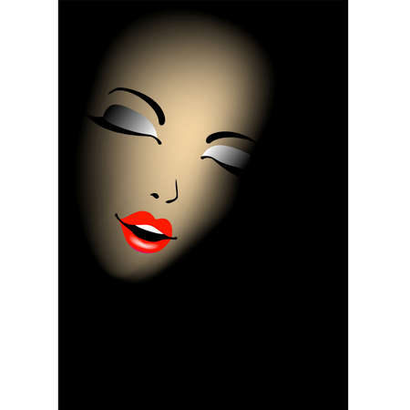 riddle: Silhouette of a beautiful womans face in a shade
