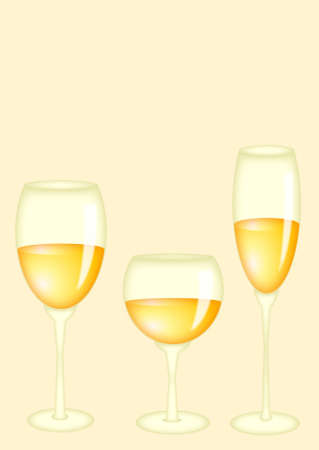 romanticist: Three glasses with white wine