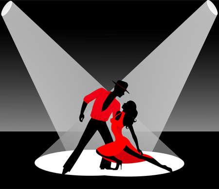 Pair dancing a tango photo