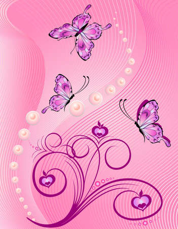 Abstract floral background photo