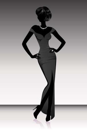 harmonous: Silhouette of the harmonous woman