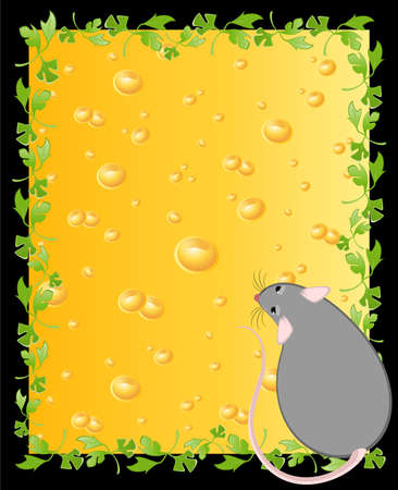 inducement: mice against from yellow cheese full of holes