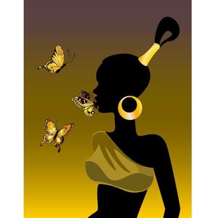 african safari: The African girl