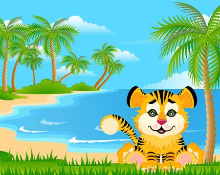 Lovely tiger toddler Stock Photo - 5368905
