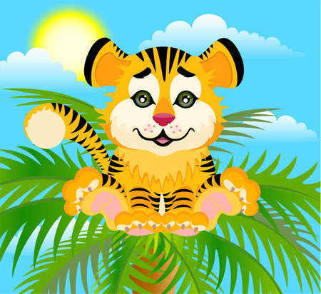 Lovely tiger toddler Stock Photo - 5368891