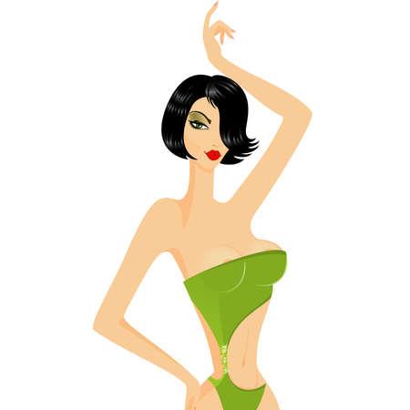 asterisks: The beautiful woman Illustration