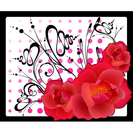 abstract floral background Stock Vector - 5459099