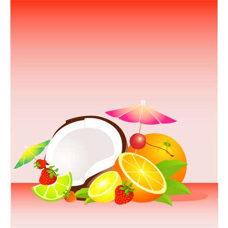 canasta de frutas: Cesta de temporada frutas tropicales variados