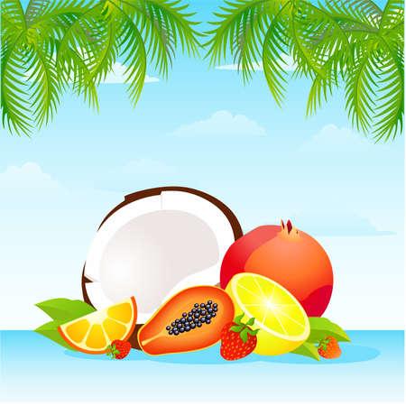 delightful: Seasonal varied tropical fruit basket