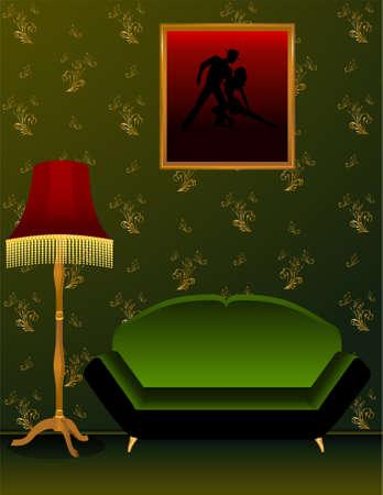 premise: Beautiful classical interior in 3d
