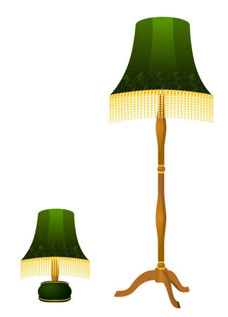 premise: Beautiful classical lamp on a white background
