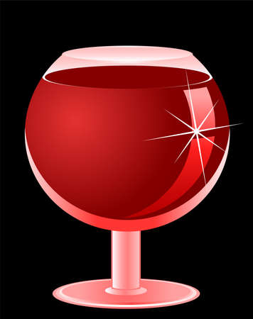 romanticist: Glass with wine on a black background for design
