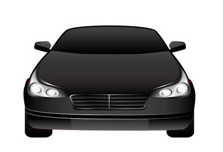 The new black beautiful car on a background for design Stock Photo - 5622414