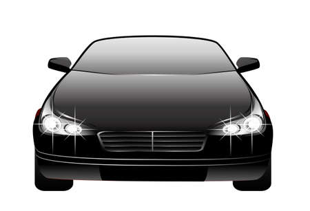 The new black beautiful car on a background for design Stock Photo - 5622413