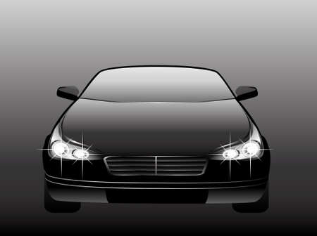 The new black beautiful car on a background for design Stock Photo - 5622410