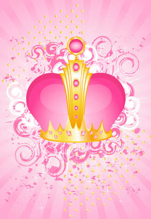 beautiful gold crown on a bright background for the design Imagens - 5761252