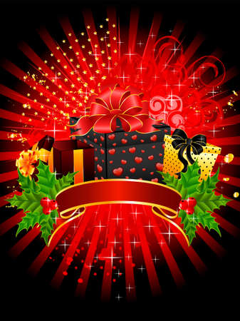 bright christmas gifts on a  background photo